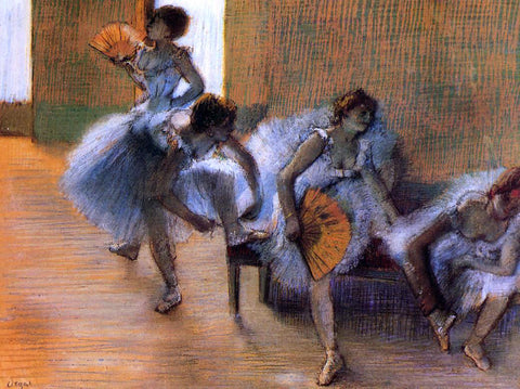 Edgar Degas In the Dance Studio - Hand Painted Oil Painting