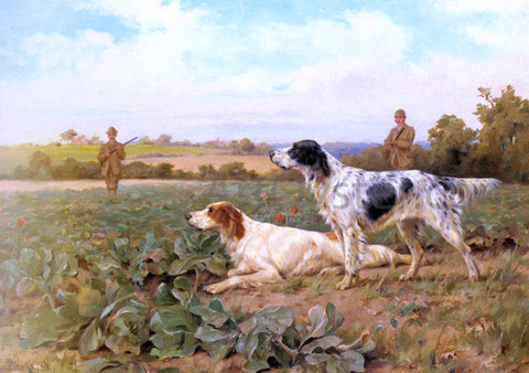 Thomas Blinks In The Field, Shooting - Hand Painted Oil Painting