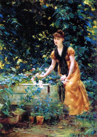 Francis Coates Jones In the Garden - Hand Painted Oil Painting