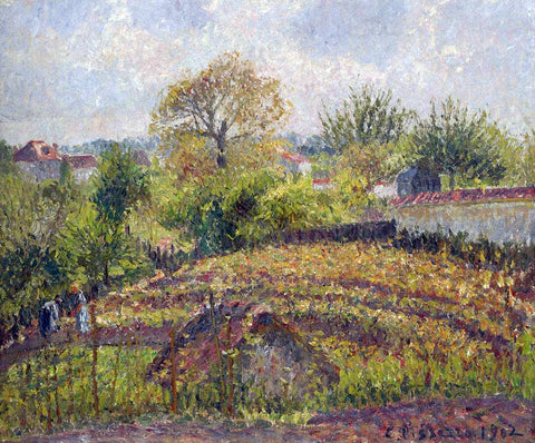 Camille Pissarro In the Garden - Hand Painted Oil Painting