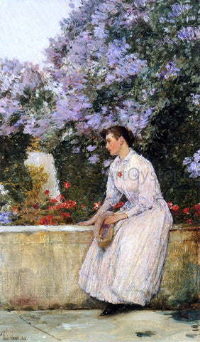 Frederick Childe Hassam In the Garden - Hand Painted Oil Painting