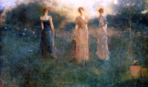 Thomas Wilmer Dewing In the Garden - Hand Painted Oil Painting