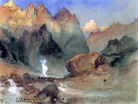 Thomas Moran In the Lava Beds - Hand Painted Oil Painting