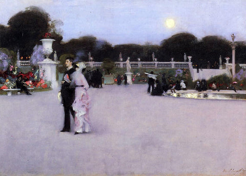John Singer Sargent In the Luxembourg Garden - Hand Painted Oil Painting