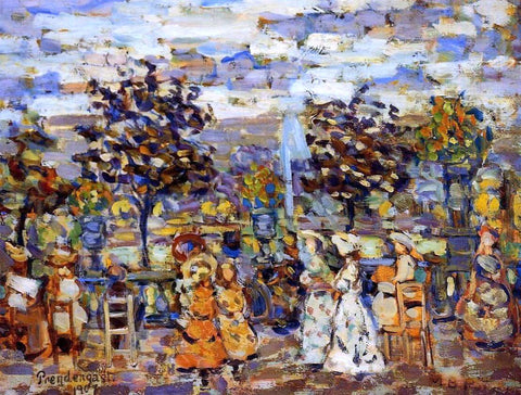 Maurice Prendergast In the Luxembourg Gardens - Hand Painted Oil Painting