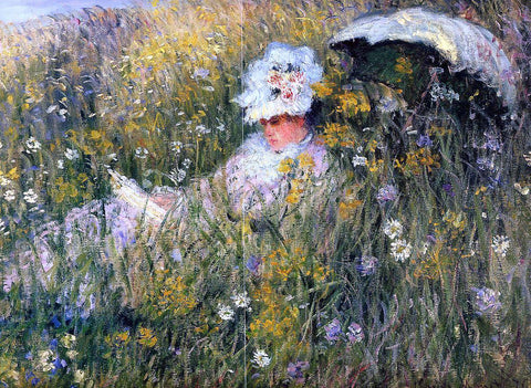 Claude Oscar Monet In the Meadow (detail) - Hand Painted Oil Painting
