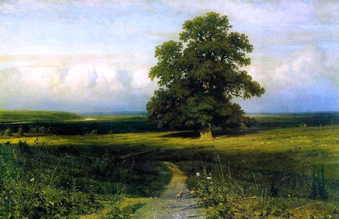 Ivan Ivanovich Shishkin In the middle of flat valley - Hand Painted Oil Painting
