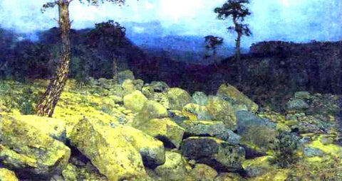 Isaac Ilich Levitan In the Mountains in the Crimea - Hand Painted Oil Painting