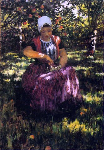 George Hitchcock In the Orchard - Hand Painted Oil Painting
