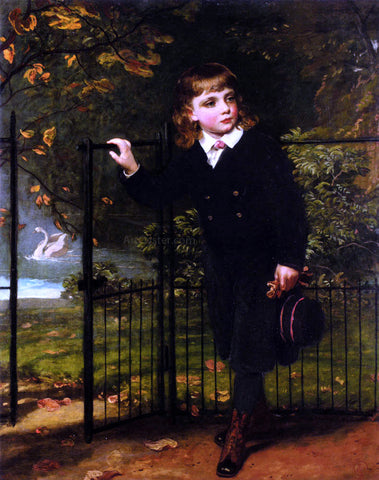 James Sant In The Park - Hand Painted Oil Painting