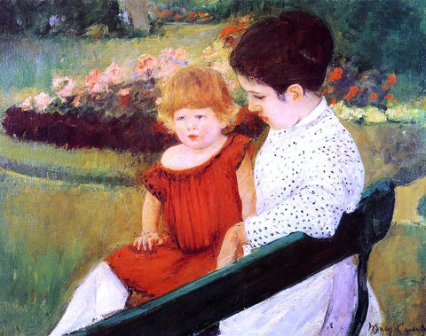 Mary Cassatt In the Park - Hand Painted Oil Painting