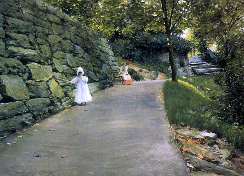 William Merritt Chase In the Park - a By-Path - Hand Painted Oil Painting