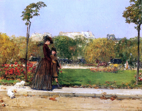 William Merritt Chase In the Park, Paris (also known as Dans le Parc, Paris) - Hand Painted Oil Painting