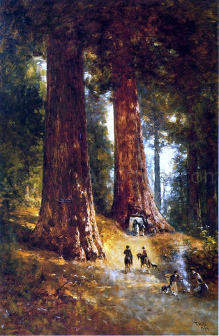 Thomas Hill In the Redwoods - Hand Painted Oil Painting