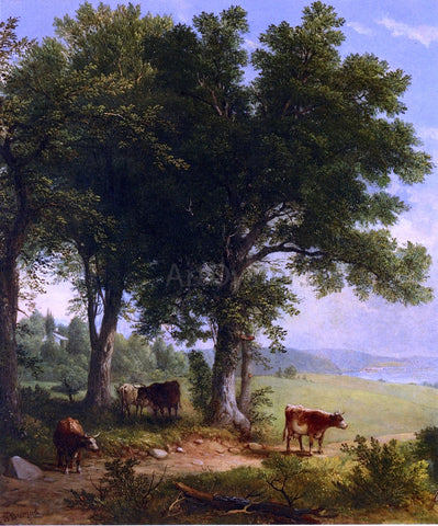 Asher Brown Durand In the Shade of the Old Oak Tree - Hand Painted Oil Painting