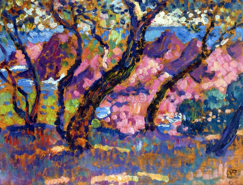 Theo Van Rysselberghe In the Shade of the Pines (study) - Hand Painted Oil Painting