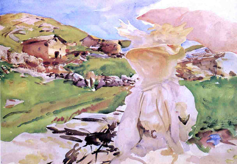 John Singer Sargent In the Simplon Pass - Hand Painted Oil Painting