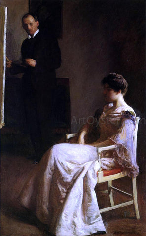 Joseph DeCamp In the Studio - Hand Painted Oil Painting