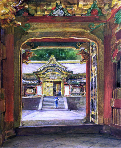 John La Farge In the Third Gate, Looking Toward the Fourth of the Temple, Iyemitsu, Nikko, Aug., 1886 - Hand Painted Oil Painting