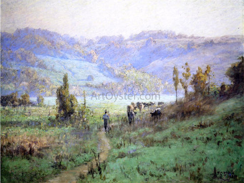 Theodore Clement Steele In the Whitewater Valley near Metamora - Hand Painted Oil Painting