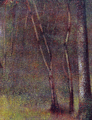 Georges Seurat In the Woods at Pontaubert - Hand Painted Oil Painting