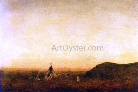 Ralph Albert Blakelock Indian Camp - Hand Painted Oil Painting