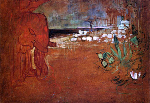 Henri De Toulouse-Lautrec Indian Decor - Hand Painted Oil Painting