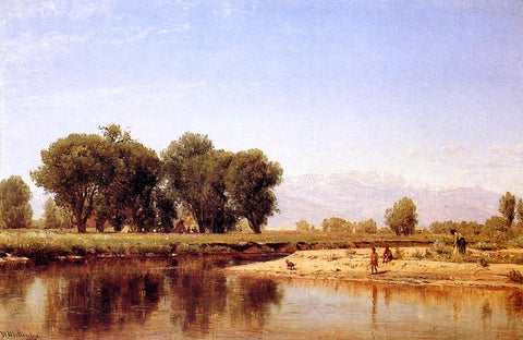 Thomas Worthington Whittredge Indian Emcampment on the Platte River - Hand Painted Oil Painting