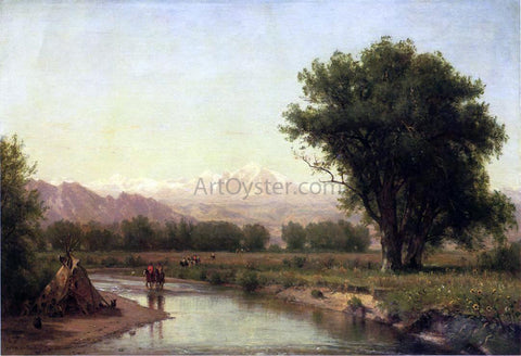 Thomas Worthington Whittredge Indian Encampment on the Platte (III) - Hand Painted Oil Painting
