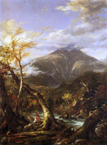 Thomas Cole Indian Pass - Tahawus - Hand Painted Oil Painting