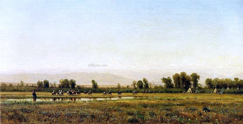 Thomas Worthington Whittredge Indian Reservation - Hand Painted Oil Painting