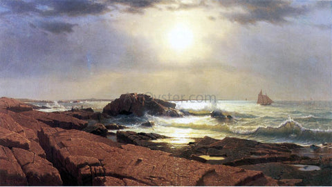 William Stanley Haseltine Indian Rock, Narragansett - Hand Painted Oil Painting