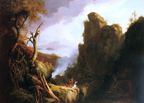 Thomas Cole Indian Sacrifice - Hand Painted Oil Painting