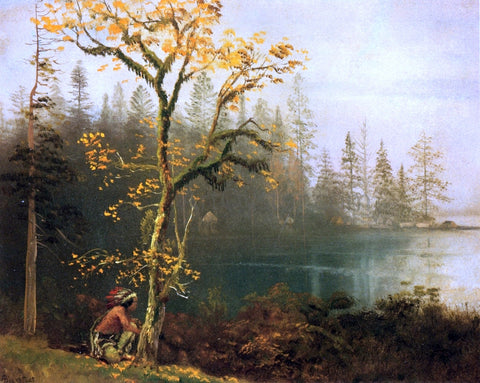 Albert Bierstadt Indian Scout - Hand Painted Oil Painting
