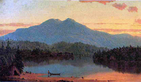 Sanford Robinson Gifford Indian Twilight - Hand Painted Oil Painting