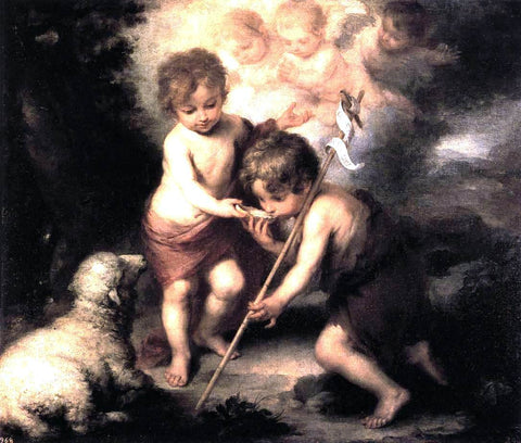 Bartolome Esteban Murillo Infant Christ Offering a Drink of Water to St John - Hand Painted Oil Painting