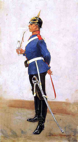 Frederic Remington Infantry Officer, Full Dress - Hand Painted Oil Painting