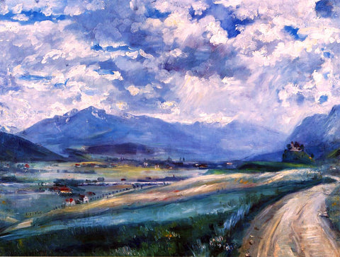 Lovis Corinth Inn Valley Landscape - Hand Painted Oil Painting