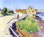 Willard Leroy Metcalf Inner Harbour, Gloucester - Hand Painted Oil Painting