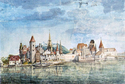 Albrecht Durer Innsbruck Seen from the North - Hand Painted Oil Painting