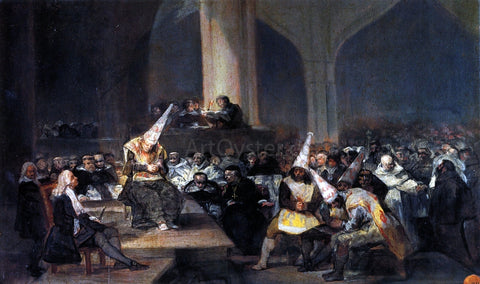Francisco Jose de Goya Y Lucientes Inquisition Scene - Hand Painted Oil Painting