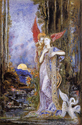 Gustave Moreau Inspiration - Hand Painted Oil Painting