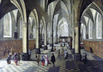 The Younger Peeter Neeffs Interior of a Cathedral - Hand Painted Oil Painting