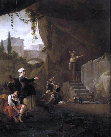 Thomas Wijck Interior of a Cave - Hand Painted Oil Painting