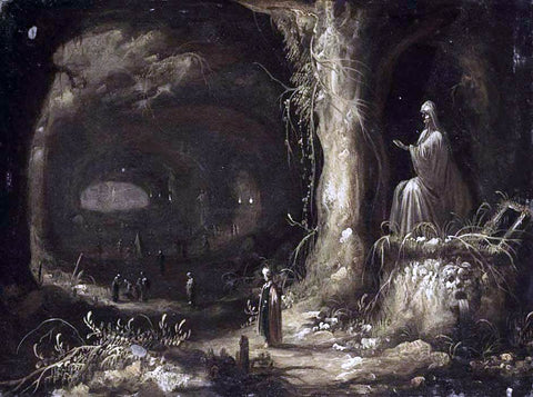 Rombout Van Troyen Interior of a Grotto - Hand Painted Oil Painting