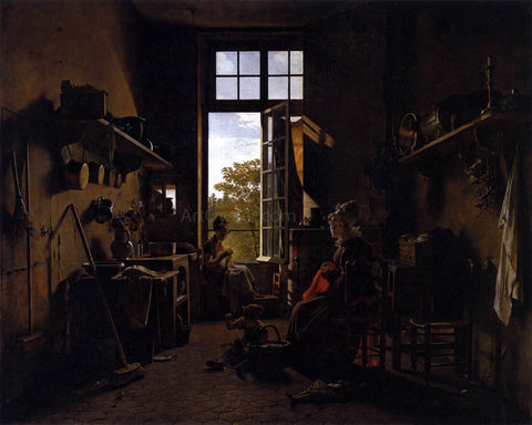 Martin Drolling Interior of a Kitchen - Hand Painted Oil Painting
