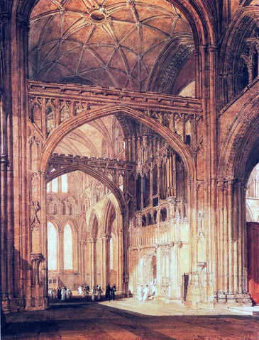 Joseph William Turner Interior of Salisbury Cathedral - Hand Painted Oil Painting