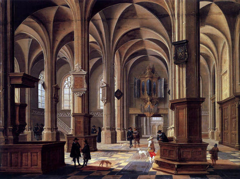 Bartholomeus Van Bassen Interior of the Cunerakerk, Rhenen - Hand Painted Oil Painting