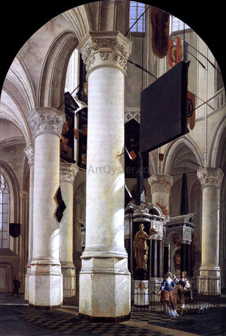 Gerard Houckgeest Interior of the Nieuwe Kerk, Delft, with the Tomb of William the Silent - Hand Painted Oil Painting