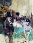 Jean-Louis Forain Intermission on Stage - Hand Painted Oil Painting